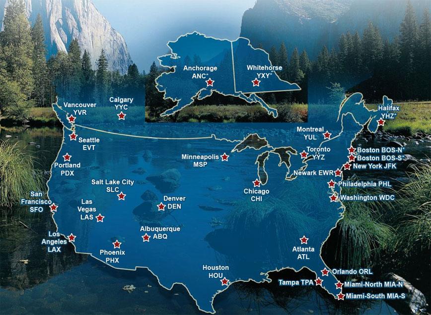 Nos Centres Loueurs Aux Usa Et Au Canada Cruise Americanada